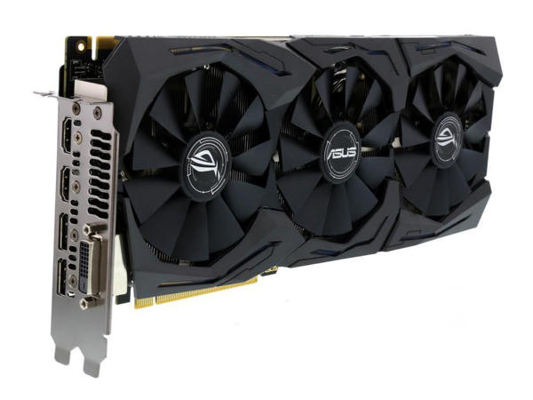 ASUS ROG GeForce GTX 1070 gaming video card for a computer